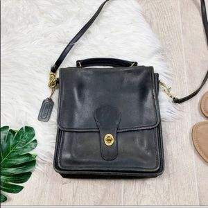 Coach Vintage Willis Black Leather Crossbody Bag